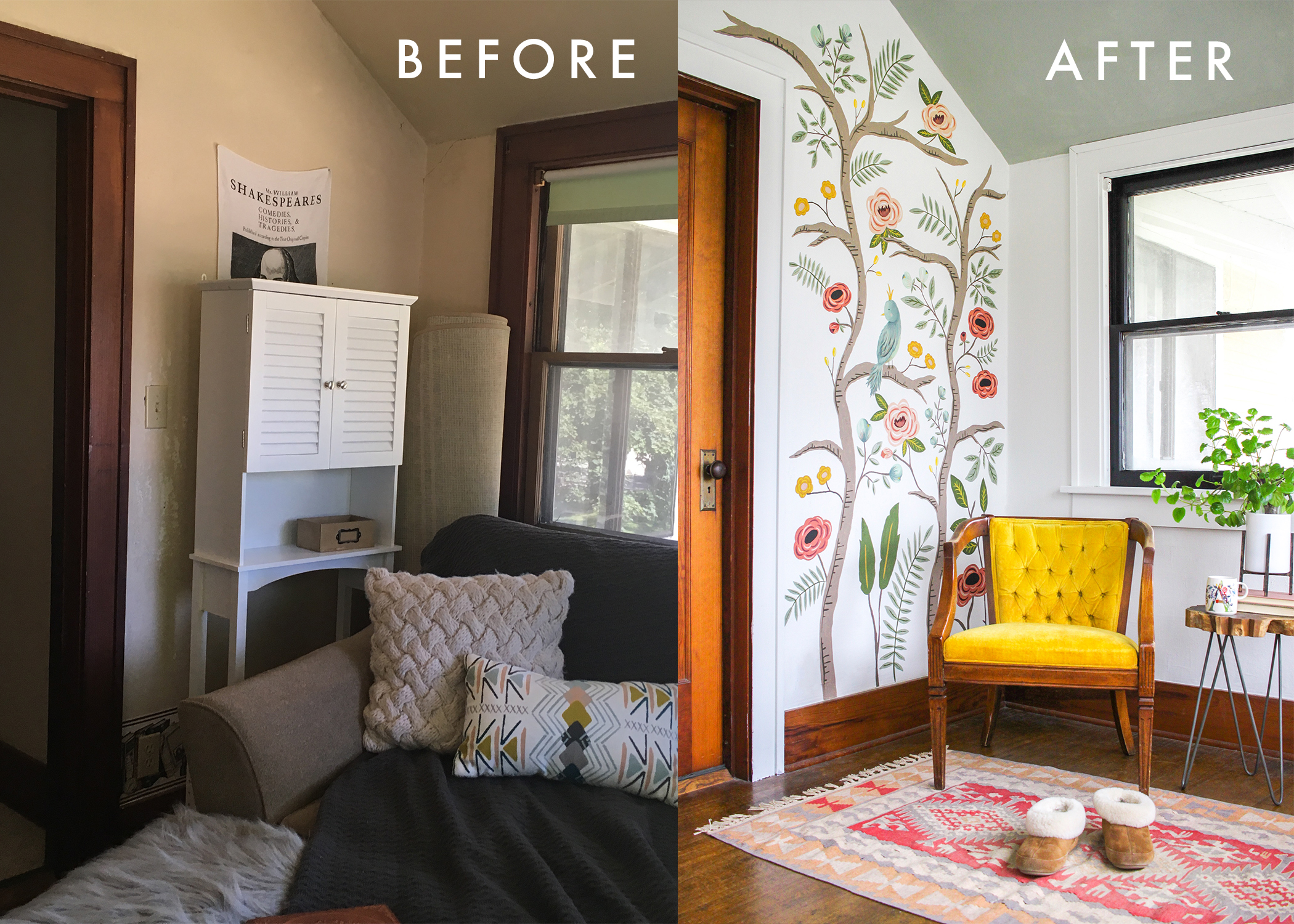SUNROOM BEFORE AFTER