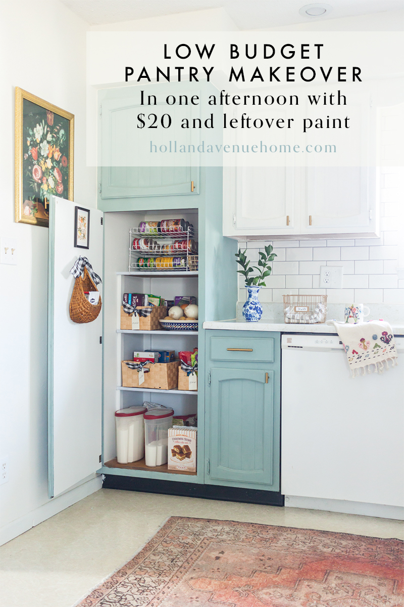 Low budget pantry makeover pinterest